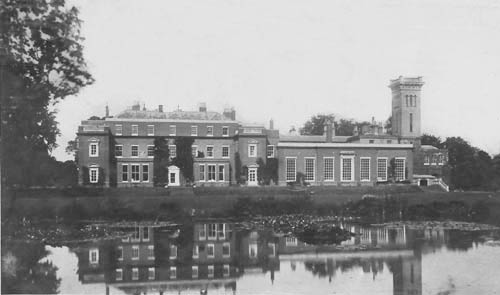 Didlington Hall - south front from the lake